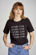 Noisy May T-shirts (manches courtes) noir 27011097_BLACK BW FUTURE img1
