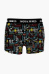 ACCESSORIES BY JACK & JONES Boxers zwart JACGRAFFITI TRUNKS_BLACK img1