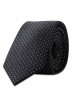 ACCESSORIES BY JACK & JONES Cravates noir JJACNOOS TIE_BLACK DOTS img1