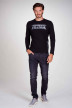 Petrol T-shirts (lange mouwen) zwart M3000SPTLR300_9999 BLACK img1