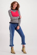Maurice Truien met ronde hals multicolor MAU MARIAN JUMPER_NAVYOFF WHITE img2
