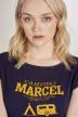 Le Fabuleux Marcel De Bruxelles T-shirts (korte mouwen) blauw MDB201WT 004_NAVY img4