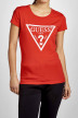 GUESS Tops uni manche courte rouge O94I02J1311_G587 img1