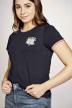 Stien Edlund T-shirts (korte mouwen) blauw STI201WT 018_NIGHT BLUE img4