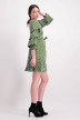 VILA Robes courtes vert VIPICANA WRAP DRESS_CHIVEWHITE STR img2