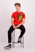 ZEB Style Lab T-shirts (manches courtes) rouge WK MEN CREST S18_RED img2
