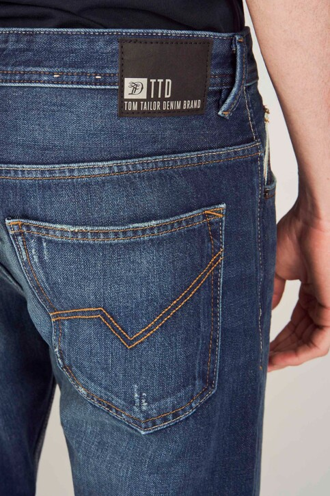 TOM TAILOR Jeans tapered denim 1008459_10136 DARK BLUE img5