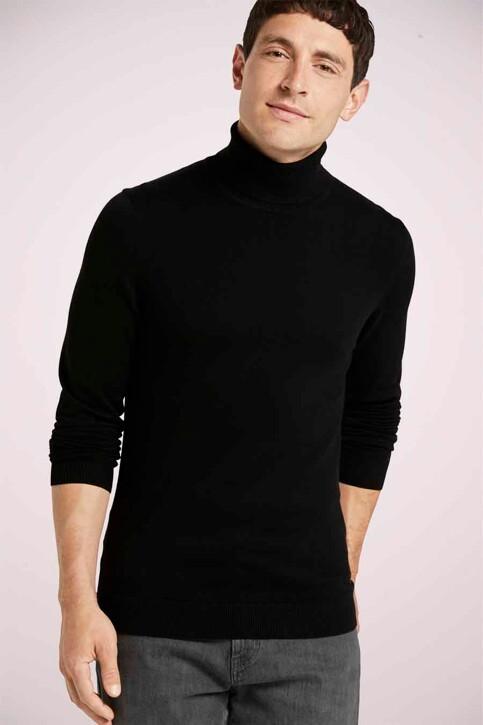 Tom Tailor Pulls col O noir 1021444_29999 BLACK img1