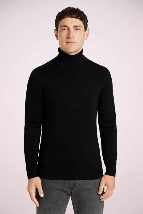 Tom Tailor Pulls col O noir 1021444_29999 BLACK img3