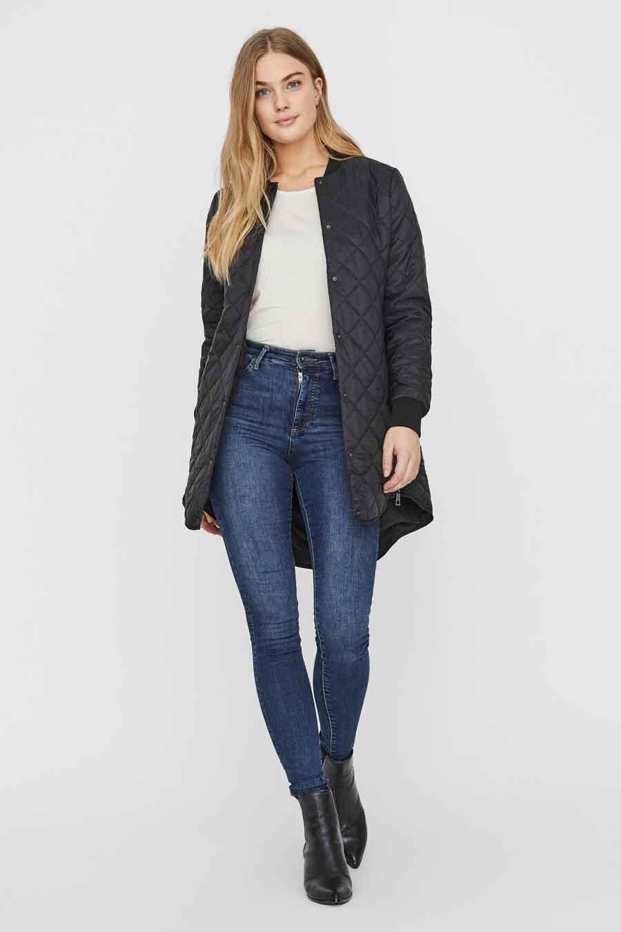Vero Moda® Jas lang, Zwart, Dames, Maat: XL