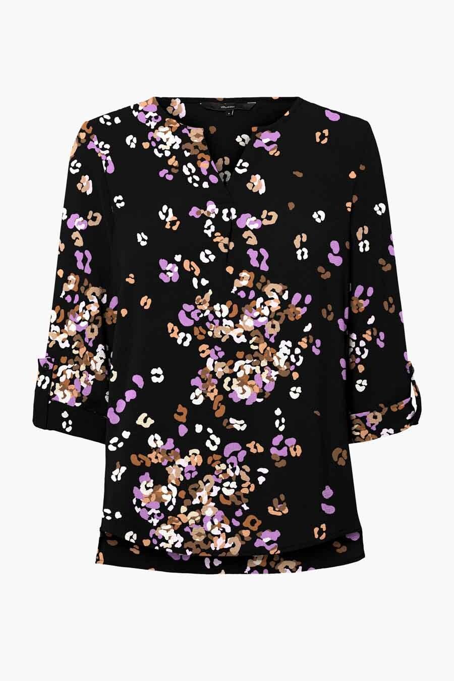 Vero Moda® Blouse met 3/4 mouwen, Multicolor, Dames, Maat: M