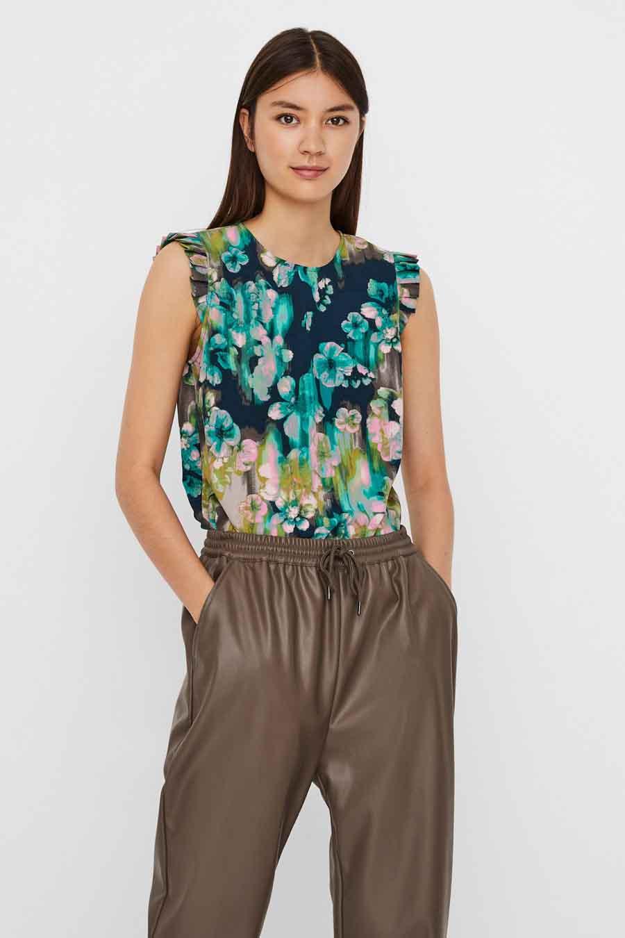 Vero Moda® Blouse zonder mouwen, Multicolor, Dames, Maat: M/XS