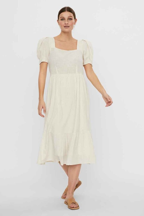 VERO MODA® Robes longues beige 10244785_BIRCH img5