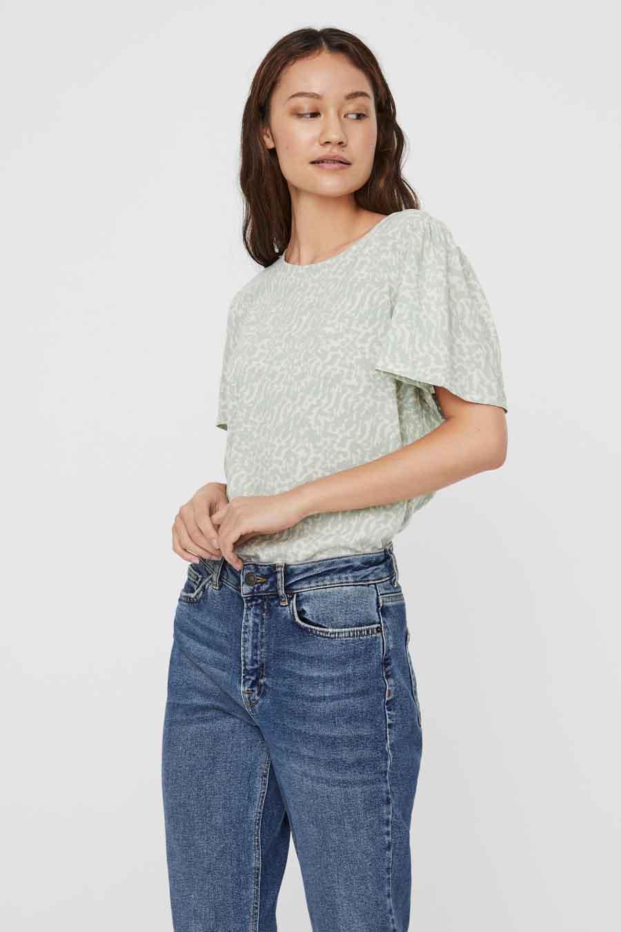 Vero Moda® Blouse lange mouwen, Groen, Dames, Maat: L/M/S/XL/XS