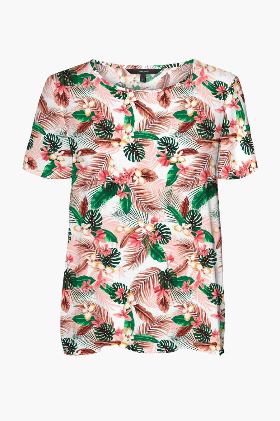 Vero Moda® Blouse korte mouwen, Roze, Dames, Maat: XS