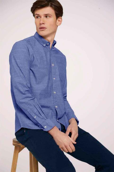 TOM TAILOR Hemden (lange mouwen) blauw 1024747_26394 BLUE WHIT img1