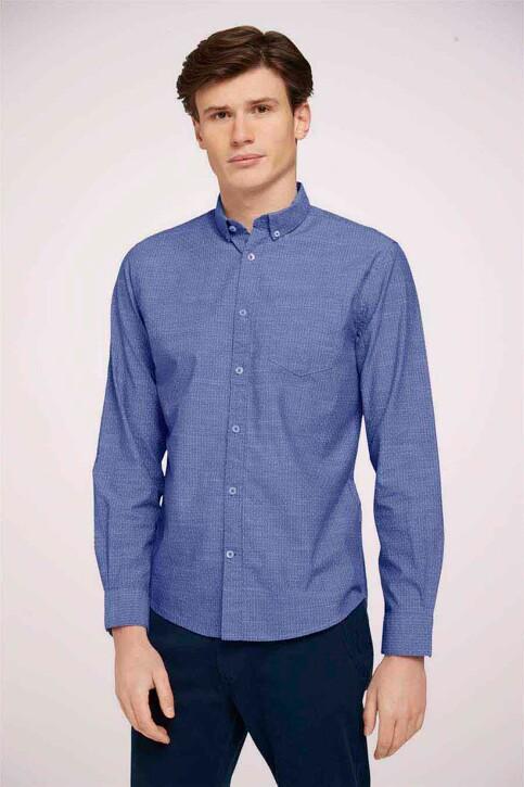 TOM TAILOR Hemden (lange mouwen) blauw 1024747_26394 BLUE WHIT img3