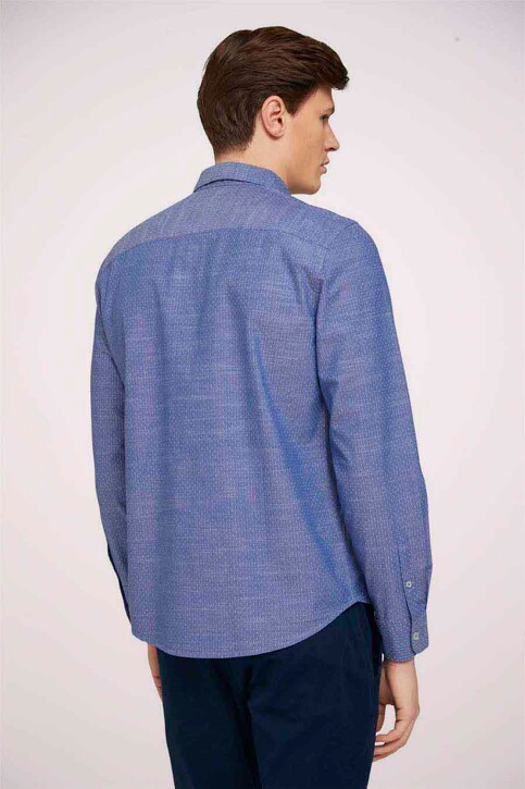 TOM TAILOR Hemden (lange mouwen) blauw 1024747_26394 BLUE WHIT img4