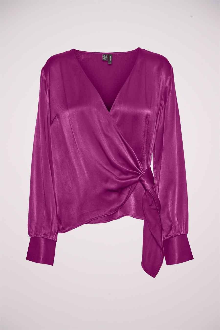 Vero Moda® Blouse lange mouwen, Roze, Dames, Maat: M/S