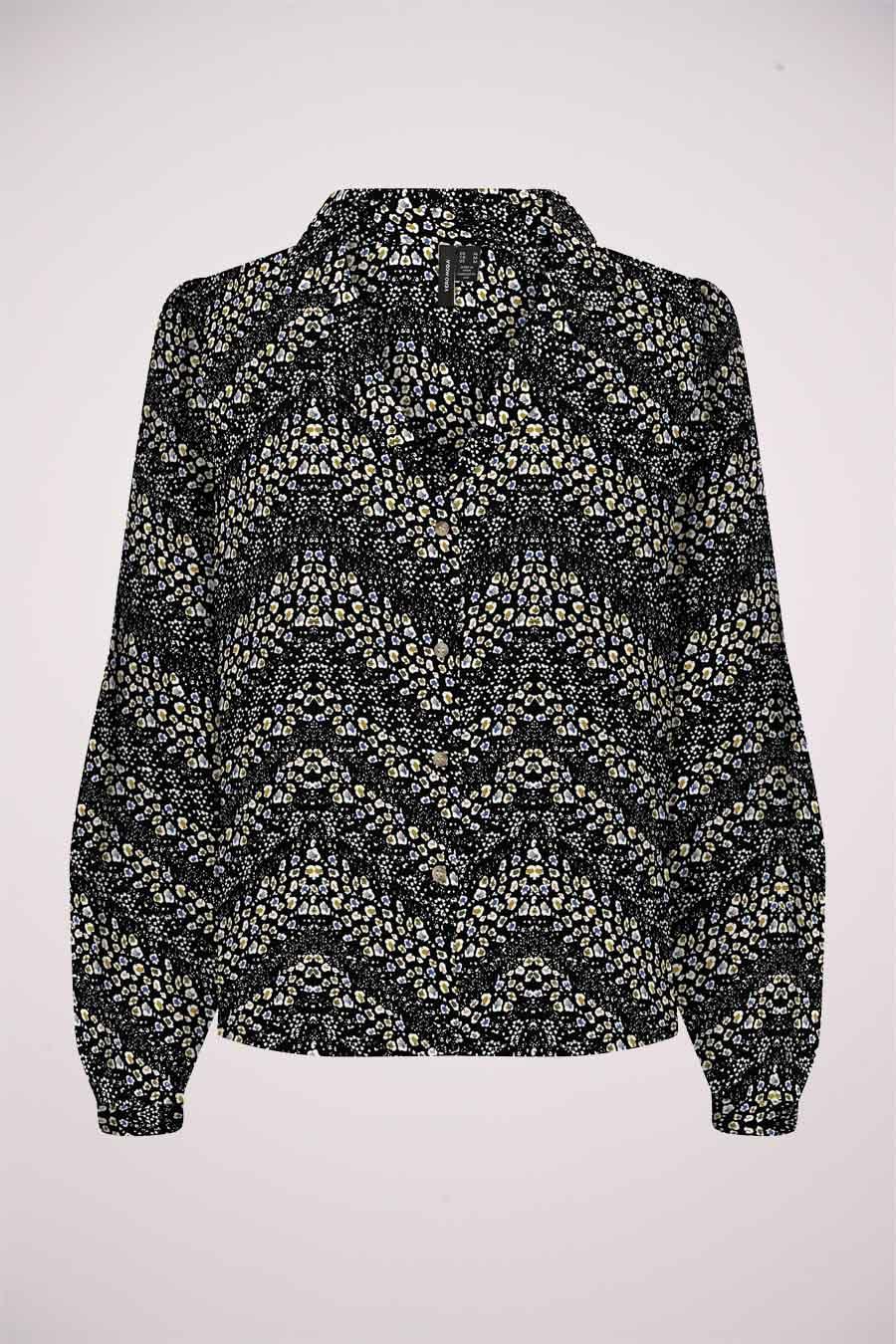 Vero Moda® Blouse lange mouwen, Zwart, Dames, Maat: M/S/XL/XS