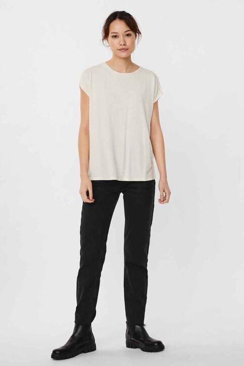 VERO MODA® T-shirts (korte mouwen) beige 10250488_PRISTINE STRIPE img1