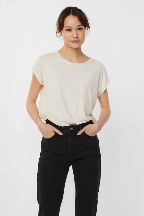 VERO MODA® T-shirts (korte mouwen) beige 10250488_PRISTINE STRIPE img2