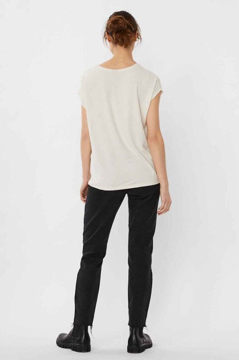 VERO MODA® T-shirts (korte mouwen) beige 10250488_PRISTINE STRIPE img3
