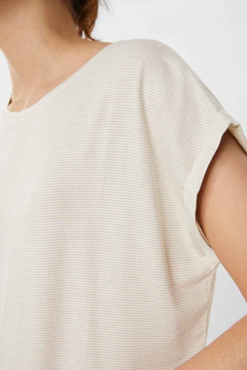 VERO MODA® T-shirts (korte mouwen) beige 10250488_PRISTINE STRIPE img4