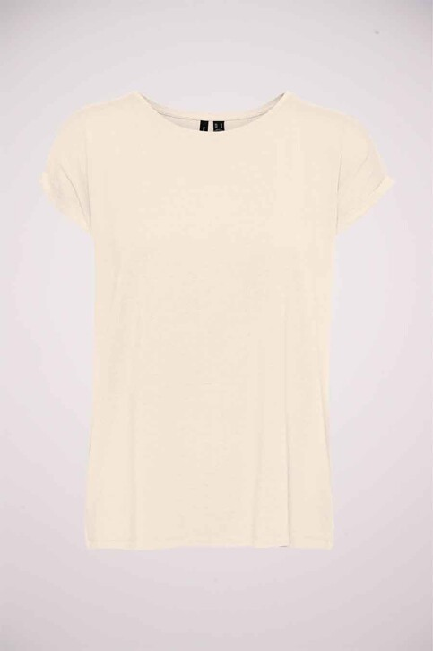 VERO MODA® T-shirts (korte mouwen) beige 10250488_PRISTINE STRIPE img5
