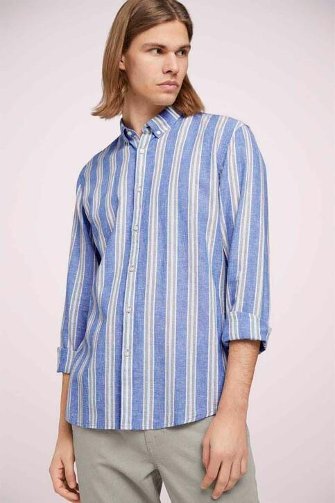 TOM TAILOR Hemden (lange mouwen) groen 1025153_26637 OLIVE BLU img1
