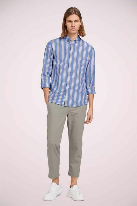 TOM TAILOR Hemden (lange mouwen) groen 1025153_26637 OLIVE BLU img2