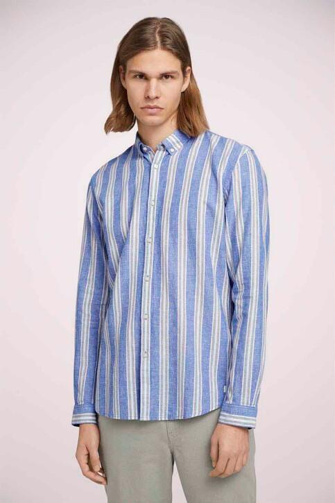 TOM TAILOR Hemden (lange mouwen) groen 1025153_26637 OLIVE BLU img3