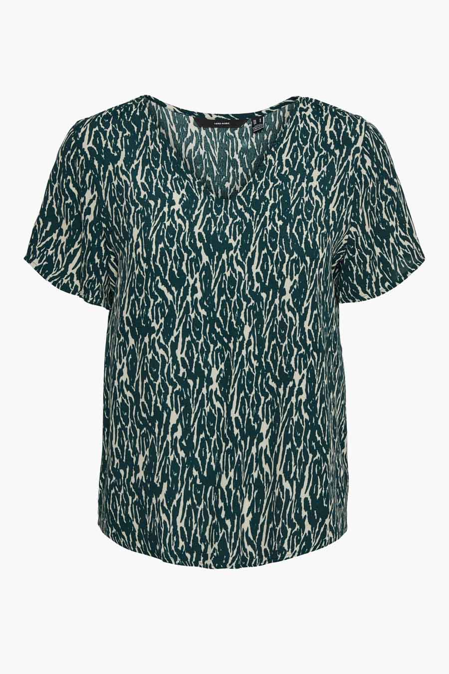 Vero Moda® Blouse korte mouwen, Groen, Dames, Maat: M/S/XS