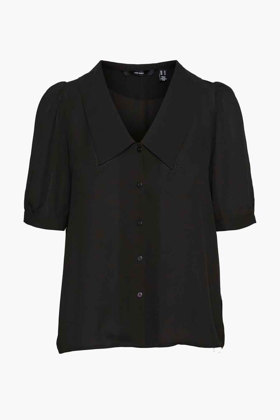 Vero Moda® Blouse lange mouwen, Zwart, Dames, Maat: L/M/XS