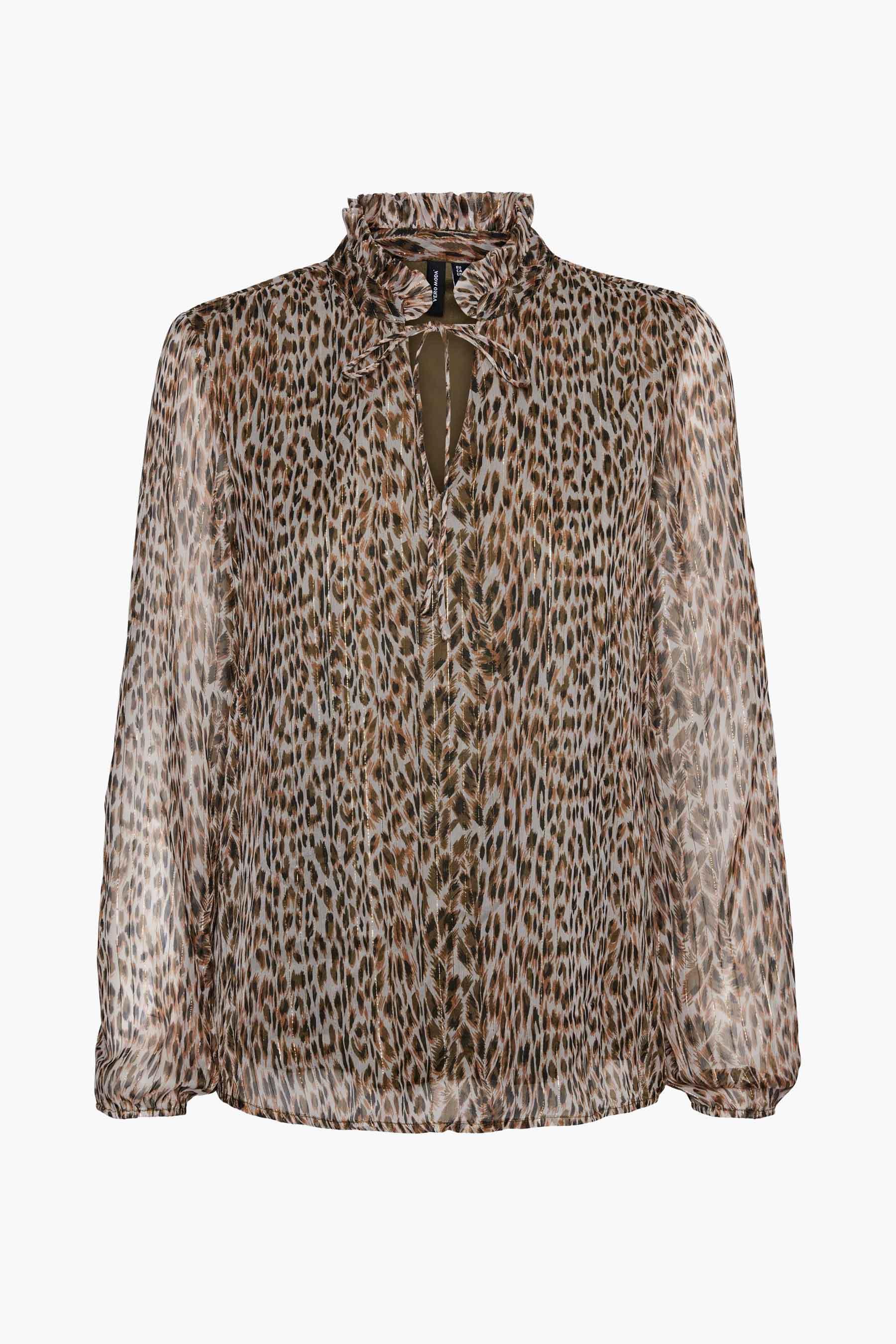 Vero Moda® Blouse lange mouwen, Beige, Dames, Maat: M/S/XL/XS
