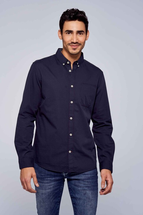 TOM TAILOR Hemden (lange mouwen) blauw 1029589003_10302 DARK BLUE img1