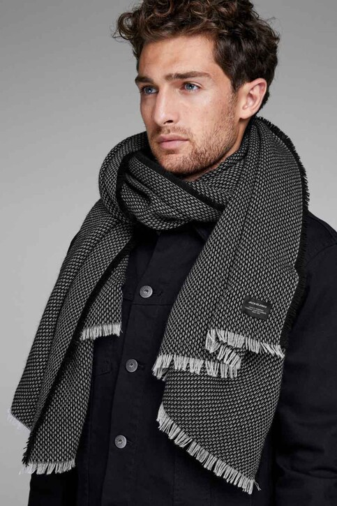 ACCESSORIES BY JACK & JONES Wintersjaals zwart 12140519_BLACK img1