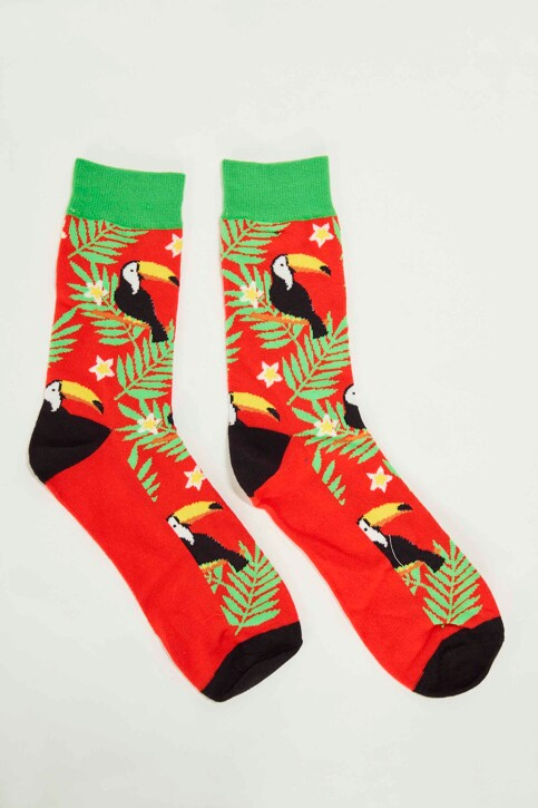ACCESSORIES BY JACK & JONES Chaussettes rouge 12148541_FIERY RED img1