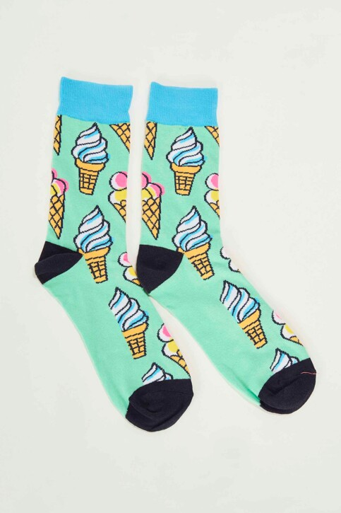ACCESSORIES BY JACK & JONES Chaussettes vert 12148542_SPRING BUD img1