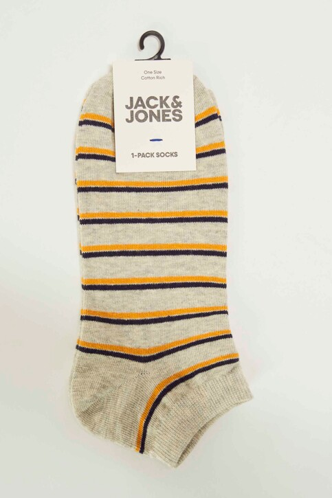 ACCESSORIES BY JACK & JONES Chaussettes gris 12148556_LIGHT GREY MELA img3