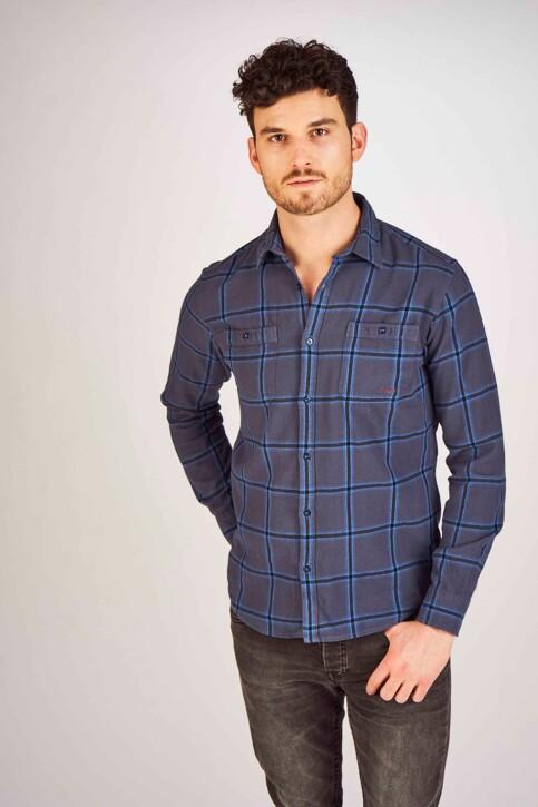 PREMIUM BLUE by JACK & JONES Hemden (lange mouwen) blauw 12150436_MOOD INDIGO img1