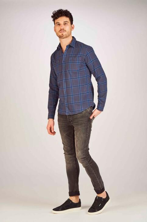 PREMIUM BLUE by JACK & JONES Hemden (lange mouwen) blauw 12150436_MOOD INDIGO img2