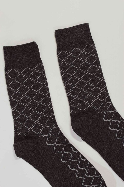 ACCESSORIES BY JACK & JONES Chaussettes gris 12152226_DARK GREY MELAN img2