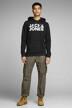 CORE BY JACK & JONES Sweaters met kap zwart 12152840_BLACK REG LARGE img2