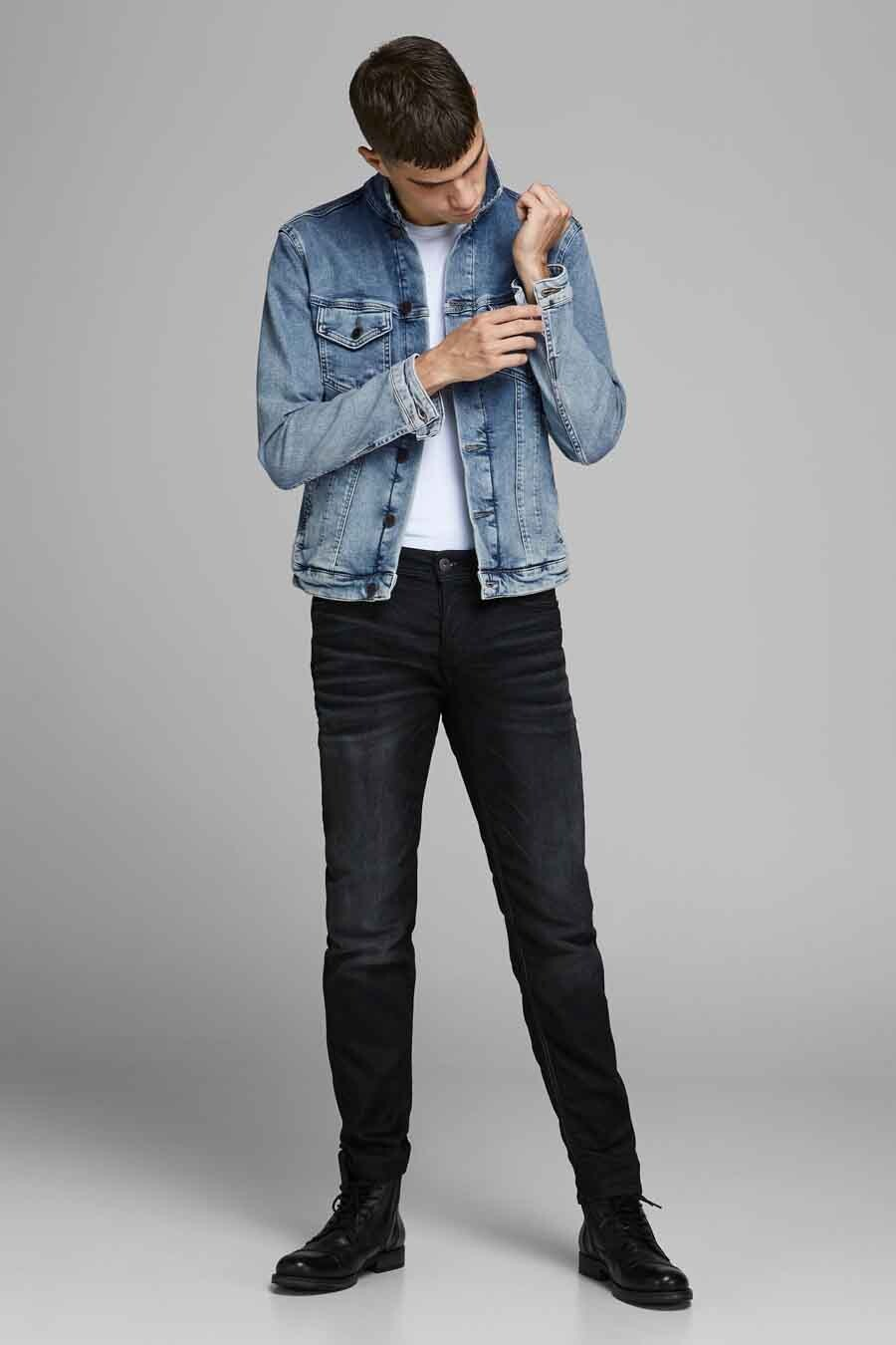 Jack & Jones Jeans Intelligence Jas kort, Denim, Heren, Maat: L/M