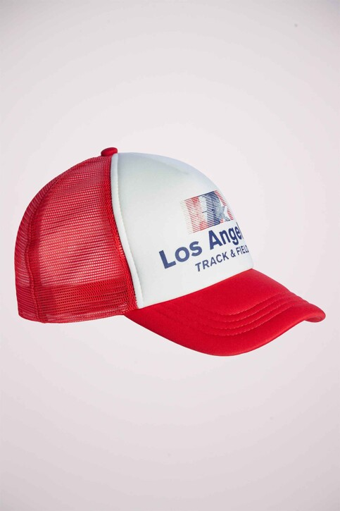 ACCESSORIES BY JACK & JONES Casquettes rouge 12154874_CHINESE RED img1