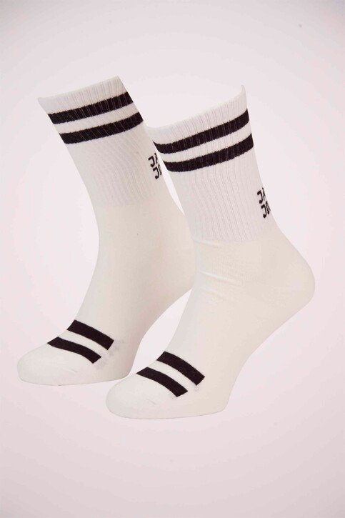 ACCESSORIES BY JACK & JONES Chaussettes 12154953_WHITE BLACK img1