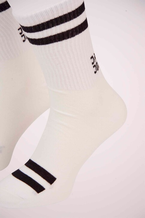 ACCESSORIES BY JACK & JONES Chaussettes 12154953_WHITE BLACK img3
