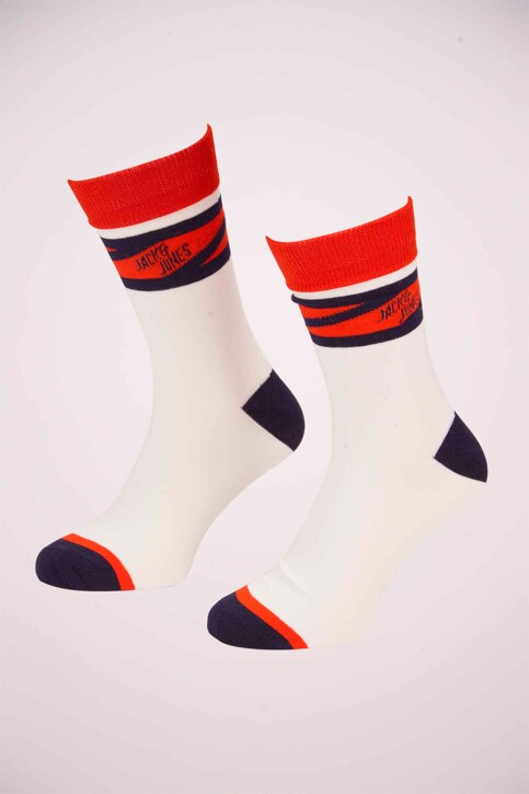 ACCESSORIES BY JACK & JONES Chaussettes 12155005_WHITE SOLID CHE img1