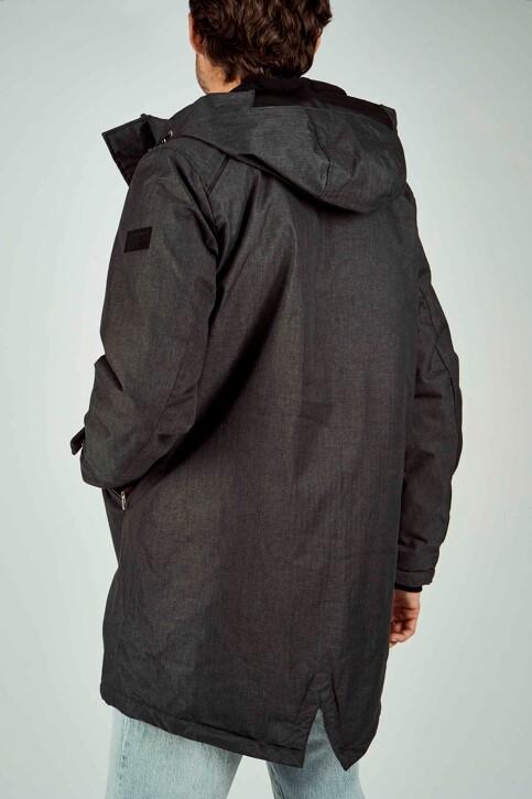 CORE BY JACK & JONES Vestes longues noir 12157684_BLACK MELANGE img3
